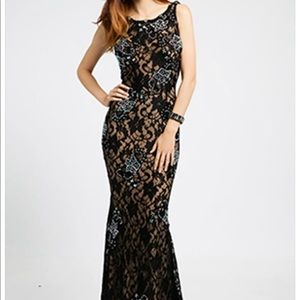 New jovani dress size 0 color nude